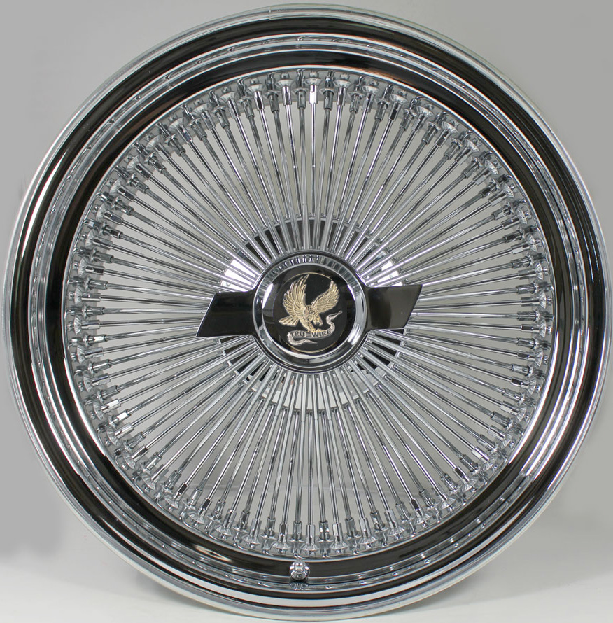 Standard Style 100 Spoke 15 X 7 Wire Wheel Knock Off HEX Cap Smooth