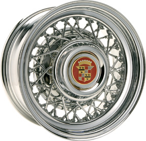 Chrome Cadillac chrome wire rim.