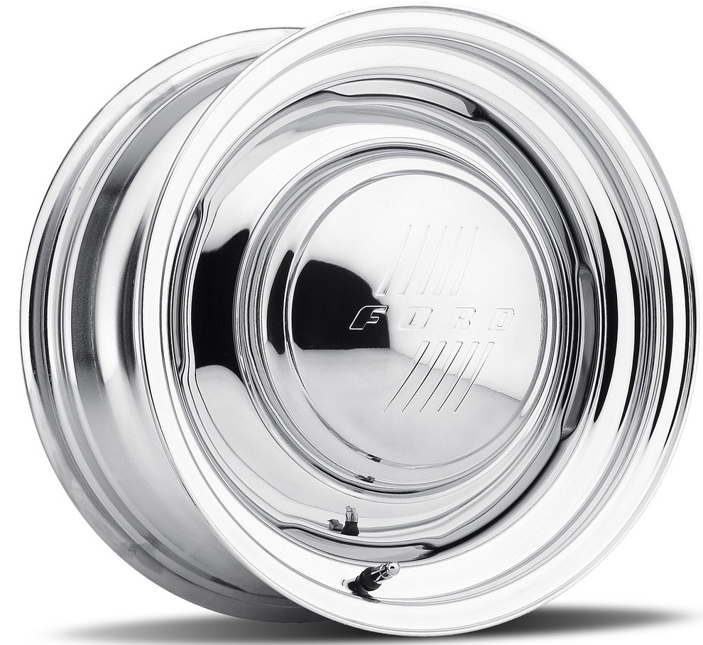Above: Chrome Plated Gennie Wheel. Hub cap is optional and is not included.