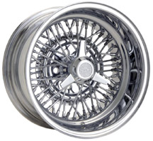 Truspoke chrome wire rim.